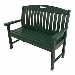 Green Nautical Outdoor Backyard Garden Veranda Deck Porch Pool Chair Seat Bench
