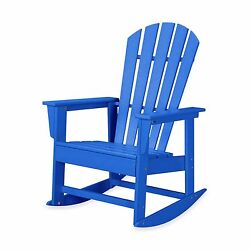Blue Home Outdoor Garden Porch Patio Deck Pool Classic Rocker Rocking Chair Seat