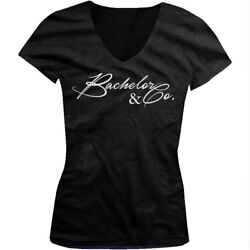 Bachelor amp; Co Party Groomsmens Friends Wedding Party Juniors V neck T shirt $29.95
