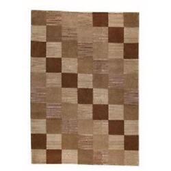 M.A.Trading Hand-knotted Indotibetan Check Braided Wool Rug (5'6 x 7'10)