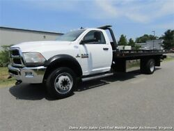 2013 Dodge Ram 5500 HD SLT Cummins Diesel Flat Bed 2013 DODGE RAM 5500 HD SLT Cummins Diesel Flat Bed 285468 Miles White Pickup Tru