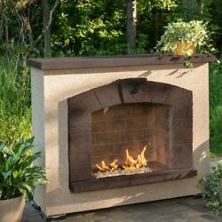 The Outdoor GreatRoom Company Stone Arch Propane Outdoor Fire Place