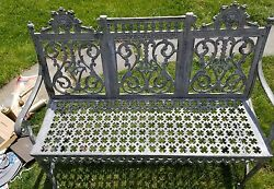 William ADAMS Antique Cast Iron Garden Furniture Bench Antique 1800's