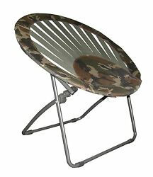 CAMOFLAGE  CHAIR MADE WITH WEBBING SUPPORT STRAPS & HEAVY DUTY STEEL FRAME