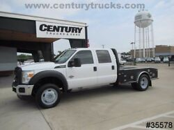 2012 FORD F450 4X4 FLAT BED CREW CAB