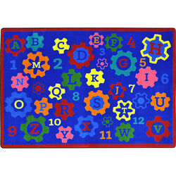 Joy Carpets Kid Essentials Blue IndoorOutdoor Area Rug