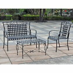 Wrought Iron Patio Furniture Set Clearance Discount Outdoor Summer Classics Sale