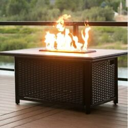 Tretco Chat Height Aluminum Gas Fire Pit Table
