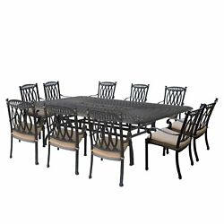 Darby Home Co Bosch Aluminum Outdoor 11 Piece Dining Set with Cushions