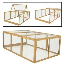 Chicken Coop Addition Broody Hen House Wire Run Kit Backyard Accessories Cage