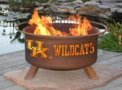 Fire Pit University of Kentucky Includes Spark Screen Cover Poker BBQ Grill...
