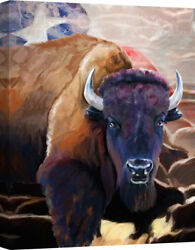 Ashton Wall Décor LLC 'Texas Bison' Painting Print on Canvas