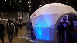 GeoDome -For use as a greenhouse camping living shelter or for any event.
