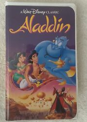 Walt Disney Aladdin Black Diamond Classic VHS  #1662 ISBN 1-55890-663-0