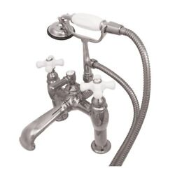 Kingston Brass Vintage Clawfoot Tub Faucet with Ceramic Knob Handles