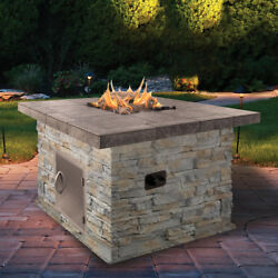 Cal Flame Natural Stone Propane Gas Fire Pit