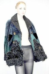 $9000 Burberry Prorsum 10 12 44 Patchwork Shearling Jacket Coat Women Lady B