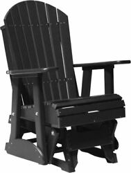 LuxCraft Poly 2' Adirondack Outdoor Porch Glider  *17 Colors!!*