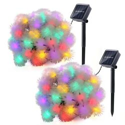 2pc Outdoor Solar Powered 20 LED String Light Garden Patio Landscape Lamp Party