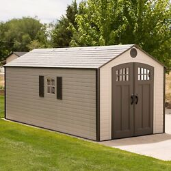 Lifetime 8 x 17.5 Outdoor Skylights Windows Storage Shed 210L x 96W x 109H 60121