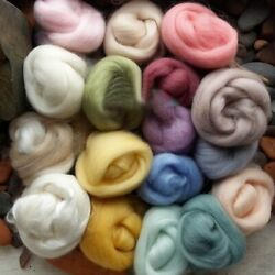 Retro Lot of 17 colors 5g Wool Fibre Roving For Needle Felting Hand Spinning $4.99