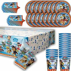 Paw Patroll Party for 16 Plates Cups Napkins Table Cover… $17.89