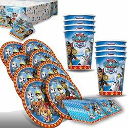 Paw Patroll Party for 8 Plates Cups Napkins Table Cover… $13.81