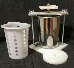 CHEESE PRESS STAINLESS STEEL 4