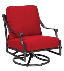 Woodard Delphi Swivel Rocking Patio Chair with Cushions
