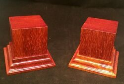 1.75x1.75x2.5 Hand Made Wooden base for figures miniatures Solid padauk wood $23.00