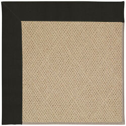 Longshore Tides Lisle Machine Tufted EbonyBrown IndoorOutdoor Area Rug