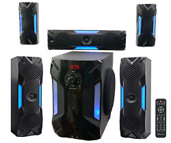 Rockville HTS56 1000w 5.1 Channel Home Theater System Bluetooth USB8quot; Subwoofer $169.95