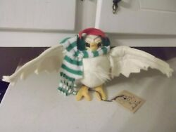 ESTATE FIND TAGGED ANNALEE BIRD WITH EARMUFFS FIGURE