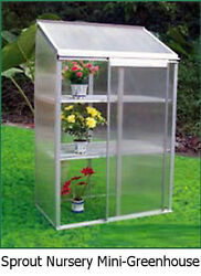 The Sprout Mini Greenhouse  A Portable DIY Hobby Greenhouse Kit from EarthCare