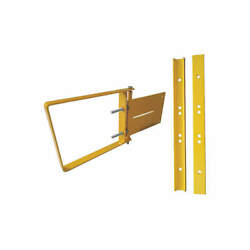 CONDOR Steel Adjustable Safety Gate17in to 18-12in 31TT66 Safety Yellow NEW