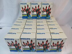 Lot Of 27 Boxes Philips 100 ct Red Mini String Lights IndoorOutdoor Christmas