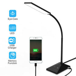 12W Touch Sensor Flexible Dimmable 7 LED Desk Table Lamp Bedside Reading light $22.99
