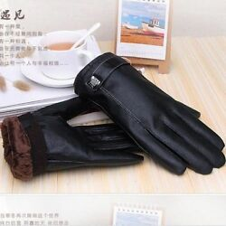Luxury Qaulity Men 100% Genuine Lambskin Leather Gloves Cashmere Lined