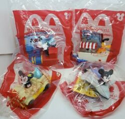 2020 MCDONALDS MICKEY amp; MINNIE#x27;S RUNAWAY RAILWAY SET OF 4 123 amp; 4 ON HAND $19.99