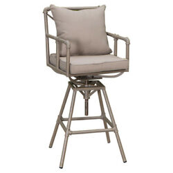 Home Loft Concepts Ablert Adjustable Height Patio Bar Stool with Cushions