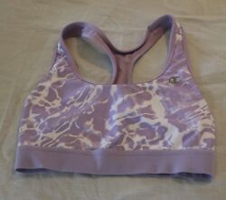 Champion sports bra medium support purple and white tie die size medium $9.99