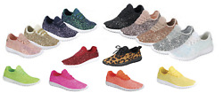 Girls Youth Kids Sequin Glitter Lace Up Fashion Shoes Comfort Athletic Sneakers $19.95