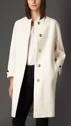 NWT BURBERRY LONDON $2595 WOMENS 100% CASHMERE COAT JACKET SZ US 10 EU 44