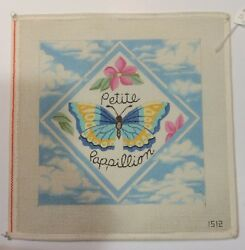 Butterfly amp; Sky Hand Painted Needlepoint Canvas 13 count $40.00