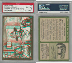 1953 Topps Tarzan & The She Devil #4 A Plan Is Made PSA 6 EXMT