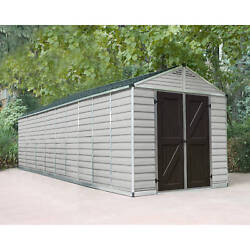 Palrma 8ft. x 20ft. TanBrown Skylight Shed