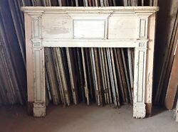 Early New England Fireplace Mantel Mantle Raised Panels 19th C