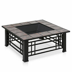 Furinno Outdoor Steel Wood Burning Fire Pit Table FVD1965