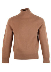 New TOM FORD Brown Turtleneck Sweater Size 48  38R U.S. In Wool Sweater Knit...