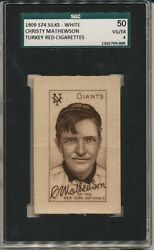 1909 S74 Silks - White Christy Mathewson SGC 504 (pop 4 only 1 higher)